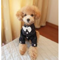 Buy cheap 100% Cotton Fabric dog Formal Wear / Toy Poodle Clothes For Wedding Black Color from wholesalers