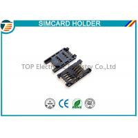 Buy cheap Simple Board Guide Micro SIM Card Holder Surface Mount Right Angle product