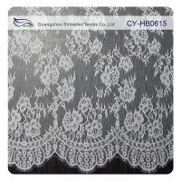 Buy cheap White Flower Sewing Eyelash Lace Trim For Bridal Wedding Gown from wholesalers