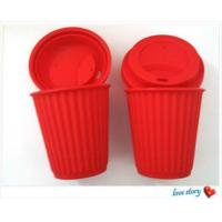 Buy cheap silicone coffee cup with lid ,promotion travel silicone coffee cups product