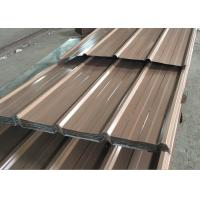Buy cheap 0.15 - 0.8mm Thick Corrugated Roof Panels , Length 3000mm Color Coated Roofing Sheets from wholesalers