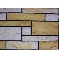 Buy cheap Rectangle Artificial Wall Stone With Strong Adhesion Color Solid Focus from Wholesalers