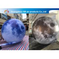 Buy cheap 210T Polyester Inflatable Lighting Decoration / Inflatable Moon Globe product