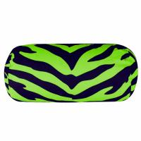 Buy cheap Polyester black and green zebra neck roll pillow 6*12in cervica pillow column shape from wholesalers