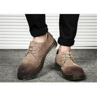 Buy cheap Gradient Mens Suede Lace Up Shoes , Retro Comfortable Casual Mens Shoes from wholesalers
