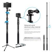 Buy cheap Gopro / Smartphone / Dslr Camera Selfie Stick , HSU 3 Section Telescopic Extension Pole from wholesalers