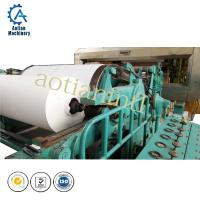 Buy cheap A4 culture paper making machine( direct rice straw pulp cultural paper machine) from wholesalers