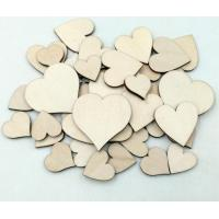 Buy cheap Natural Color Wooden craft heart shape from wholesalers