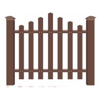 Buy cheap Pe plastic wood fence fence wood plastic material fence factory direct park wood plastic fence from wholesalers