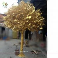 Buy cheap UVG GRE044 real looking indoor artificial trees with golden banyan tree for party decor from wholesalers