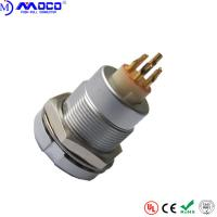 Buy cheap ECG 2B 304 4 Pin Female Circular Push Pull Connectors With Two Nuts PPS Insulator from wholesalers