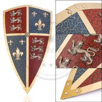 Buy cheap 17.7 x 30.7 Wall Decor Metal Medieval Shields , Medieval Black Prince Shield from wholesalers