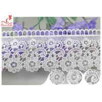 Buy cheap Embroidered Flower Guipure Polyester Lace Trim For Dress DTM Azo Free Dyeing product