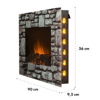 Buy cheap Wall Mounted Electric Fireplace EF420SLB STONE PANEL Log Fire LED flame ROOM HEATER BACK LIGHT BASE STAND 86-13662608511 from wholesalers