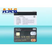 Buy cheap HiCo Black 3 Track Magstripe IC Contact Magnetic PVC Card SLE4428 SLE5528 from wholesalers