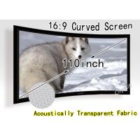 Buy cheap 180 Degree Curved Projection Screen Fabric For Full Hd Led Projectors from wholesalers