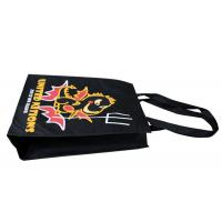 Buy cheap Black Promotional Non Woven Fabric Carrier Bags 90gsm For Supermarket from wholesalers
