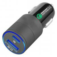Buy cheap 18w 12v 24v Dual Port Usb Car Charger  Pd Port Aluminum Alloy Material Lighteweight from wholesalers