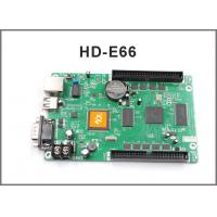 Buy cheap HD-E66 controller HD-E53 P10 display module programmable LAN + USB + RS232 control card for led display screen from wholesalers