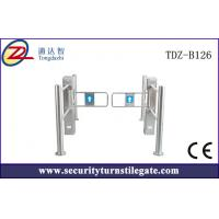 Buy cheap High Speed Swing Supermarket Turnstile with round pillar , CE certification from wholesalers