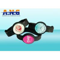 Buy cheap Custom logo Rfid Wristbands with epoxy coin , Contactless rfid bracelets from wholesalers