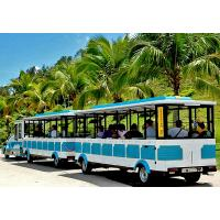 Buy cheap 72 Seat Tourist Train Rides For Adults / Trackless Toy Train 380V FRP Protective Door from wholesalers