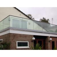 Buy cheap Tempered clear glass balustrade for the deck U-channel glass railing from wholesalers