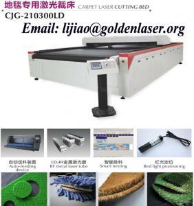 China Carpet Laser Cutting Machine Price on sale