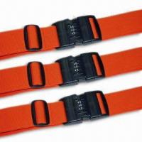 Buy cheap 2 x 78-3/4-inch Luggage Strap/Belt, Various Kinds are Available, OEM Order are Welcome from wholesalers
