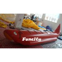 Buy cheap 0.9 PVC Tarpaulin Cartoon Inflatable Banana Boat For Kids And Adults from wholesalers