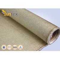 Buy cheap 1.3mm Industrial Fire Blanket Roll Vermiculite Glassfiber Cloth 800 C Heat Resistant Fiberglass Welding Blanket Roll from wholesalers
