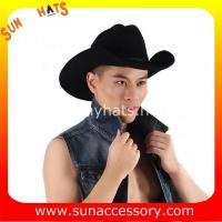 Buy cheap 0372 wool felt cowboy hats for mens, black western cowboy hats from wholesalers