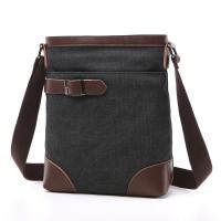 Buy cheap Male Poly Cotton Cross Shoulder Bag Smooth Zipper OEM With Soft Canvas Fabric from wholesalers