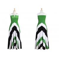 Buy cheap Colorblock Chevron Maxi Dresses Wide Banded Empire Waist Flared Skirt from wholesalers