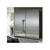 Buy cheap Full Mirror High Gloss Bedroom Furniture 2.3 Meter Height Contemporary Sliding Wardrobe from wholesalers