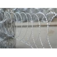 Buy cheap Hot Dip Galvanized BTO 10 Flat Razor Wire Stainless Steel On Protect Private Grounds from wholesalers