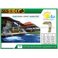 Buy cheap Stainless Steel Waterfall Blade Cascade , Swimming Pool Fountains Waterfalls For Spa Shower from wholesalers