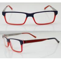 Buy cheap Fashion Women Acetate Optical Frames, Red & Black Handmade Acetate Glasses product