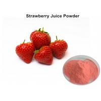 Buy cheap Organic Instant Strawberry Fruit Juice Powder Pink For Foods And Beverage / Cosmetics from wholesalers