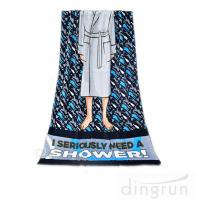 Buy cheap Machine Washable Personalized Swim Towels , Summer Beach Towels For Men from wholesalers