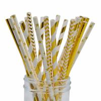 Buy cheap Disposable Compostable  Baby Shower Paper Straws Earth Friendly No Polluting from wholesalers