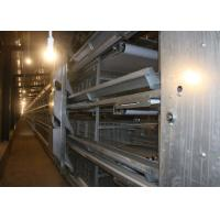 Buy cheap Silvery Industrial  Broiler Chicken Cage For Laying Eggs Double Scraping Manure Unit from wholesalers