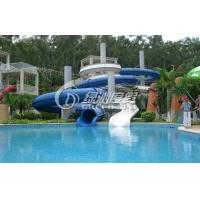 Large outdoor commercial grade fiberglass water slides - Commercial swimming pool water slides ...