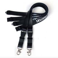 Buy cheap luxury stamping real leather lanyard silk printing logo genuine leather neck lanyard polyester lanyard keychain from wholesalers