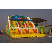 Buy cheap Dinosaur Kids Blow Up Water Slide Obstacle Course , Huge Blow Up Water Slide For Pool from wholesalers