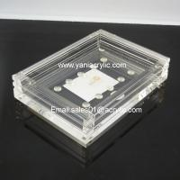 Buy cheap Novelty Groove Weatherability Plexiglass Clear Soap Dish / Acrylic Bathroom Accessories from wholesalers