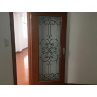 Buy cheap Oval Shaped Iron Glass Entry Doors , Antiseptic Wrought Iron Doors With Glass from wholesalers