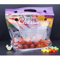 Buy cheap fruit packaging bag for strawberry/cherry/blueberry, printed zipper strawberry food grade packaging bag with zipper, Rec from wholesalers