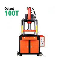 Buy cheap 100T Tablet Hydraulic Steel Wire Rope Press Machine For Metal , Large Diameter from wholesalers