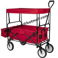 Buy cheap Folding Wagon Collapsible Utility Outdoor Garden Sports Beach Cart w/Canopy Blue from wholesalers